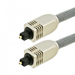 Optical Toslink SPDIF Cable Metal Connectors 22m
