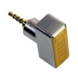 DJ44B Adapter Female Balanced Jack 4.4mm to Male Balanced Jack 2.5mm Gold Plated