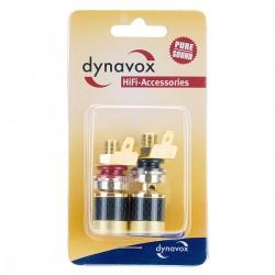 DYNAVOX Borniers isolés Plaqué Or 18mm (La paire)
