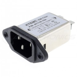 IEC C14 Socket Power Filter EMI / RFI 230V 10A