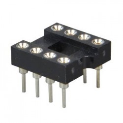 DIP8 socket holder for printed circuit boards