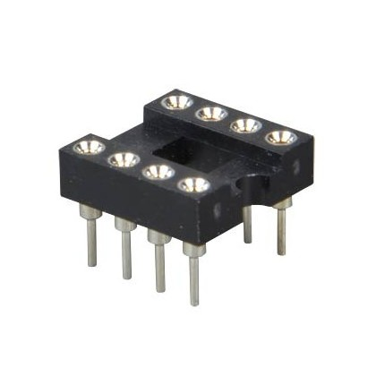 Support tulipe circuit imprimé DIP8 socket 8 broches