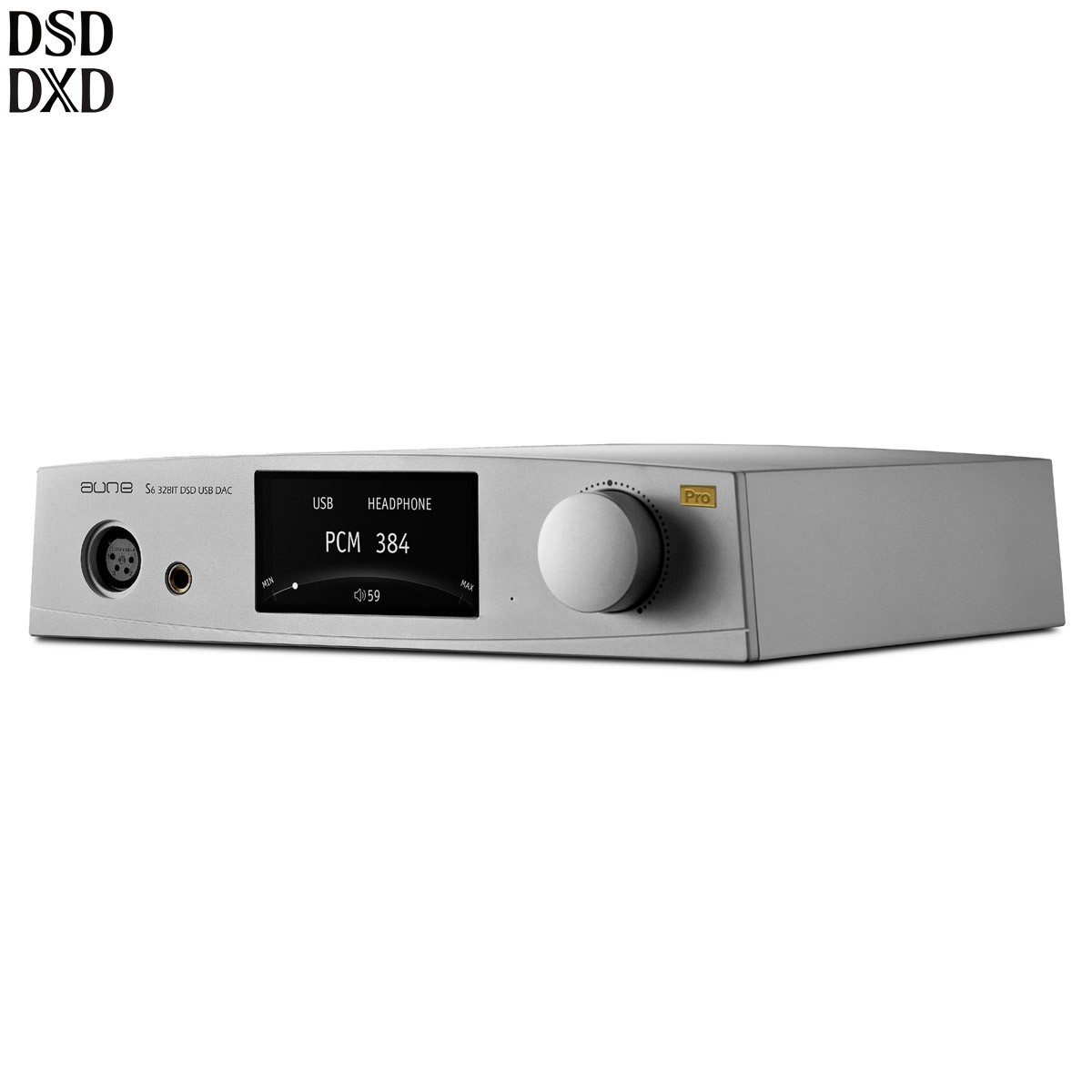 AUNE S6 PRO Balanced Headphone Amplifier DAC AK4497 XMOS 32bit 768kHz DSD512 Silver