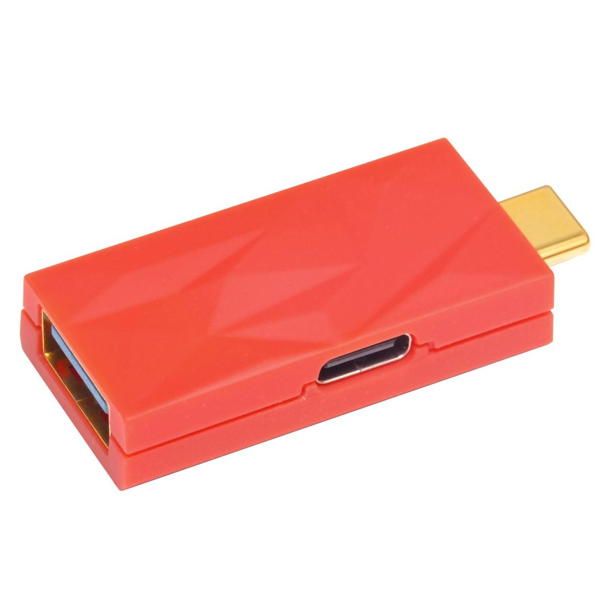 IFI AUDIO IDEFENDER+ Filtre Anti Boucle de Masse USB-C Mâle vers USB-A Femelle