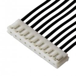Câble EH 2.54mm Femelle / Femelle 2 Connecteurs 10 Pôles 15cm Noir (Unité)