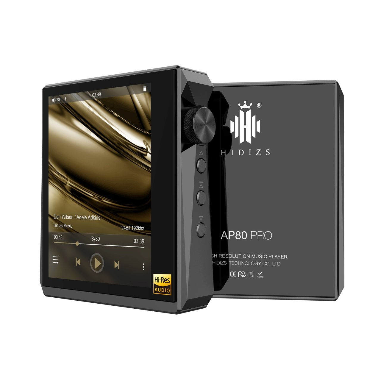 HIDIZS AP80 Portable Digital HiFi Double ES9218P DAC 32Bit / 384kHz DSD aptX Bluetooth Black