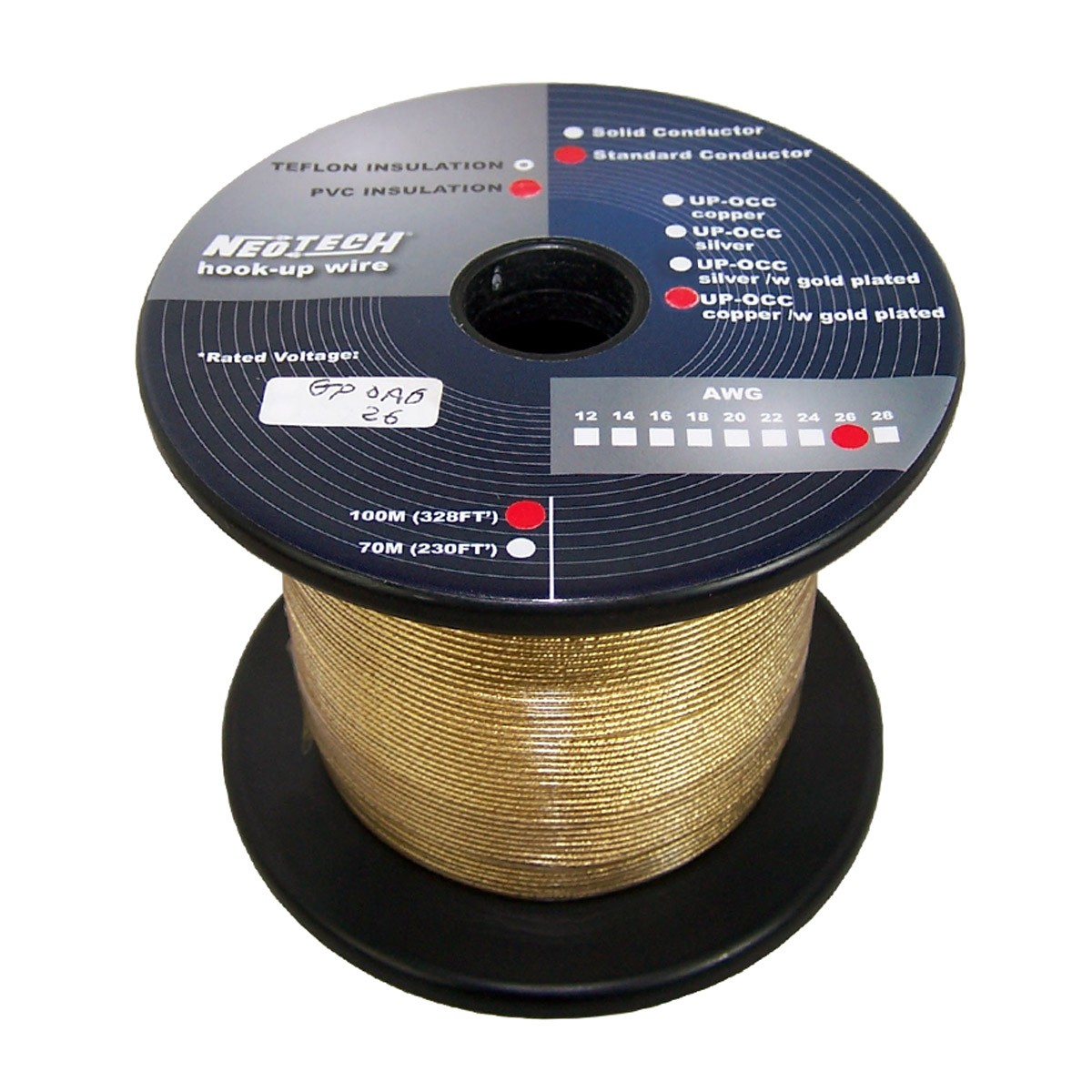 NEOTECH GP-OCG Wiring Cable Gold Plated UP-OCC Copper 0.205mm²