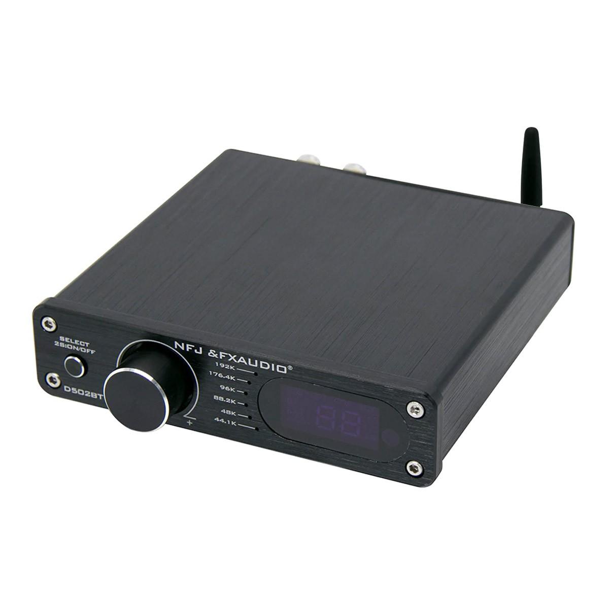 FX-AUDIO D502BT Amplifier FDA TAS5342A Subwoofer Output Bluetooth 5.0 2x60W 4 Ohm Black