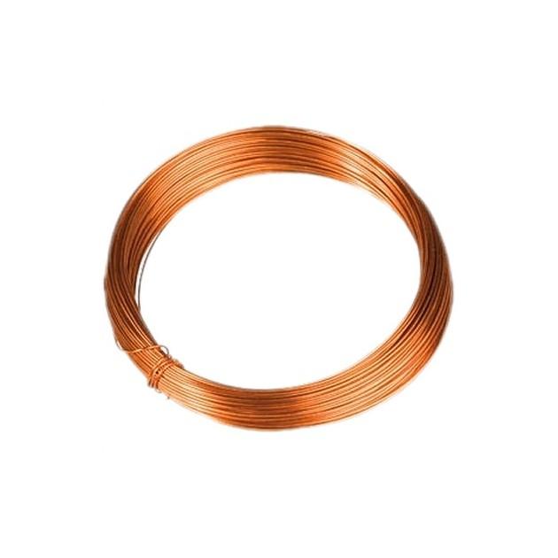 Fil en cuivre argenté de diam longueur 10 m 0,60 mm