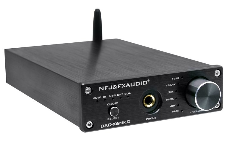 FX-AUDIO DAC-X6 MKII DAC Amplificateur Casque Bluetooth 5.0 aptX ES9018 QCC3008 24Bit 192kHz Noir