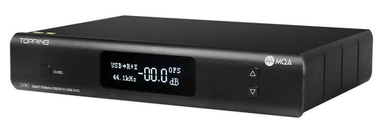 TOPPING D90 MQA DAC Symétrique AK4499 XMOS XU216 I2S 32bit 768kHz DSD512 Bluetooth 5.0 Noir