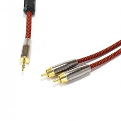 CYK Câble modulation Jack- RCA Cuivre OFC 24K 1.5m