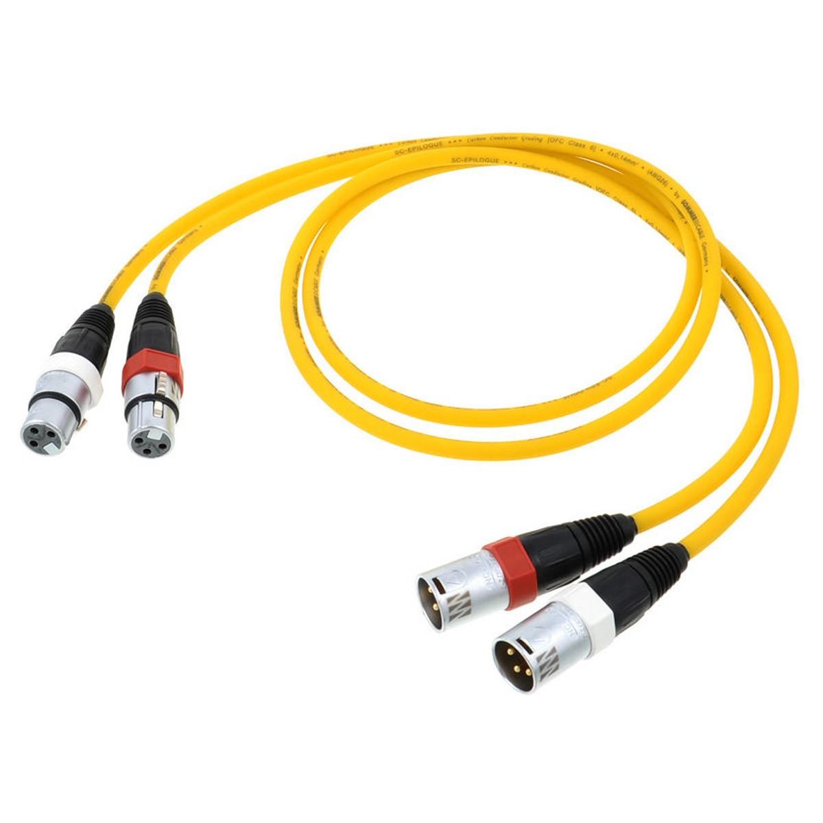 SOMMERCABLE EPILOGUE Câble de Modulation XLR Mâle vers XLR Femelle 0.5m (La paire)