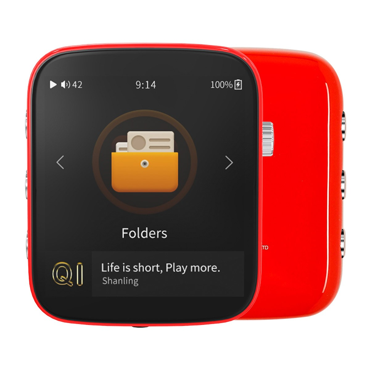 SHANLING Q1 Compact Digital Audio Player DAP ES9218P Bluetooth 32bit 384kHz DSD128 Red