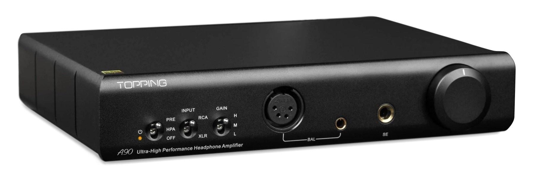 TOPPING A90 Amplificateur casque / Préamplificateur symétrique Noir