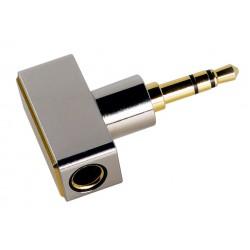 DJ44C Adaptateur Jack 4.4mm Symétrique Femelle vers Jack 3.5mm Asymétrique Mâle Plaqué Or
