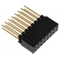 Connecteur Barrette 2.54mm Mâle / Femelle 2x8 Pôles 12mm (Unité)