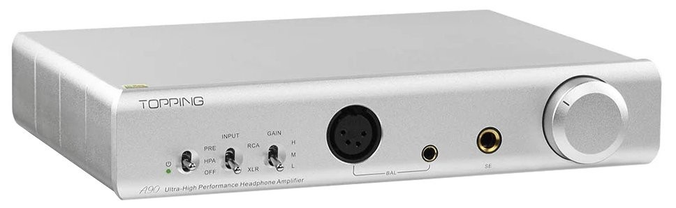 TOPPING A90 Balanced Headphone amplifier / Preamplifier Silver