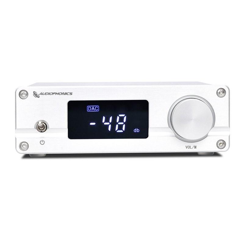 AUDIOPHONICS PGA2310 Préamplificateur Contrôle de Volume Sélecteur de Source Bluetooth 5.0