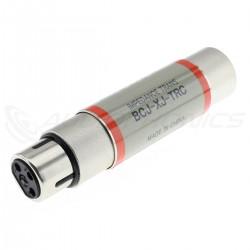 CANARE BCJ-XJ-TRC Adaptateur Transformateur d'Impédance AES/EBU 110 Ohm vers Coaxial BNC 75 Ohm 0.1 - 6.0MHz 5V