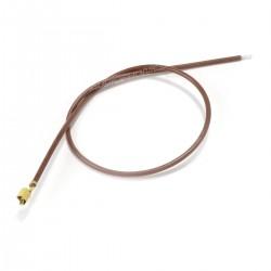 Câble VH 3.96mm Femelle vers Fil Nu Sans Boîtier 1 Pôle Plaqué Or 40cm Marron (x10)