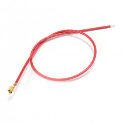 VH 3.96mm Cable Female to Bare Wire 1 Pole No Casing Gold Plated 20cm Red (x10)