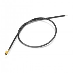 VH 3.96mm Cable Female to Bare Wire 1 Pole No Casing Gold Plated 20cm Black (x10)