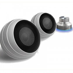 Swans S3W - Enceintes transportables Ampli TA2024 intégré Blanc