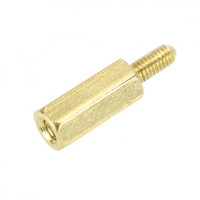 Brass Spacers Male / Female M3x4 + 3mm (x10)