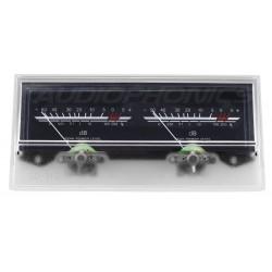 TEK Vumétre rétroéclairage blanc dB 118 mm