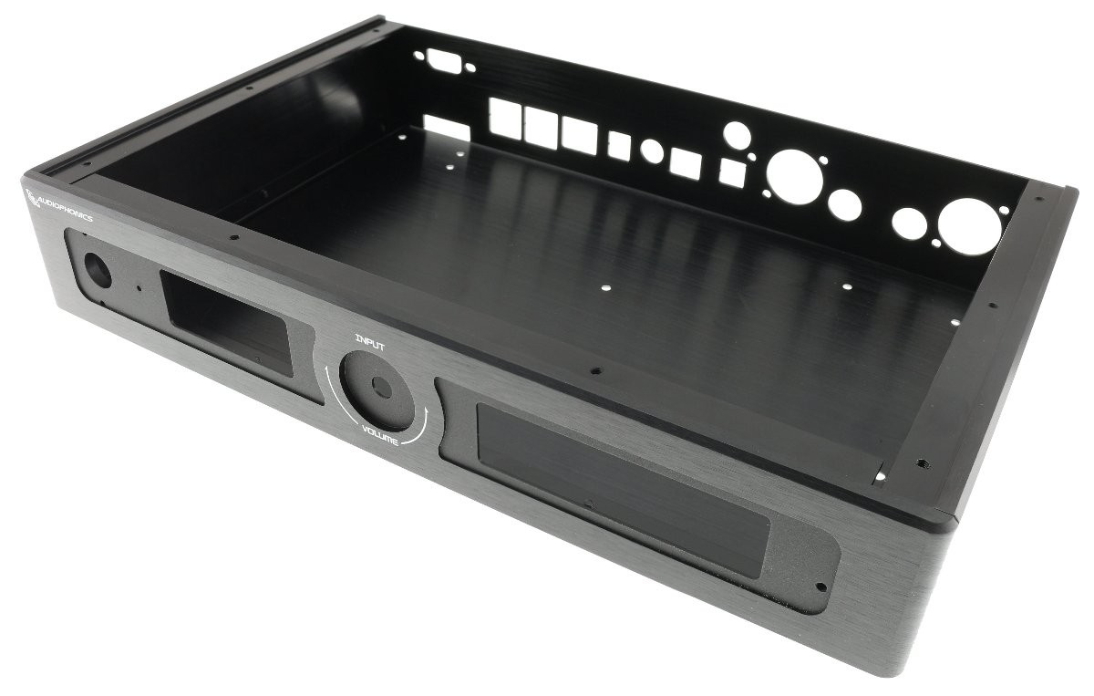 AUDIOPHONICS Kit Aluminium case and accessories for EVO-SABRE DAC Black