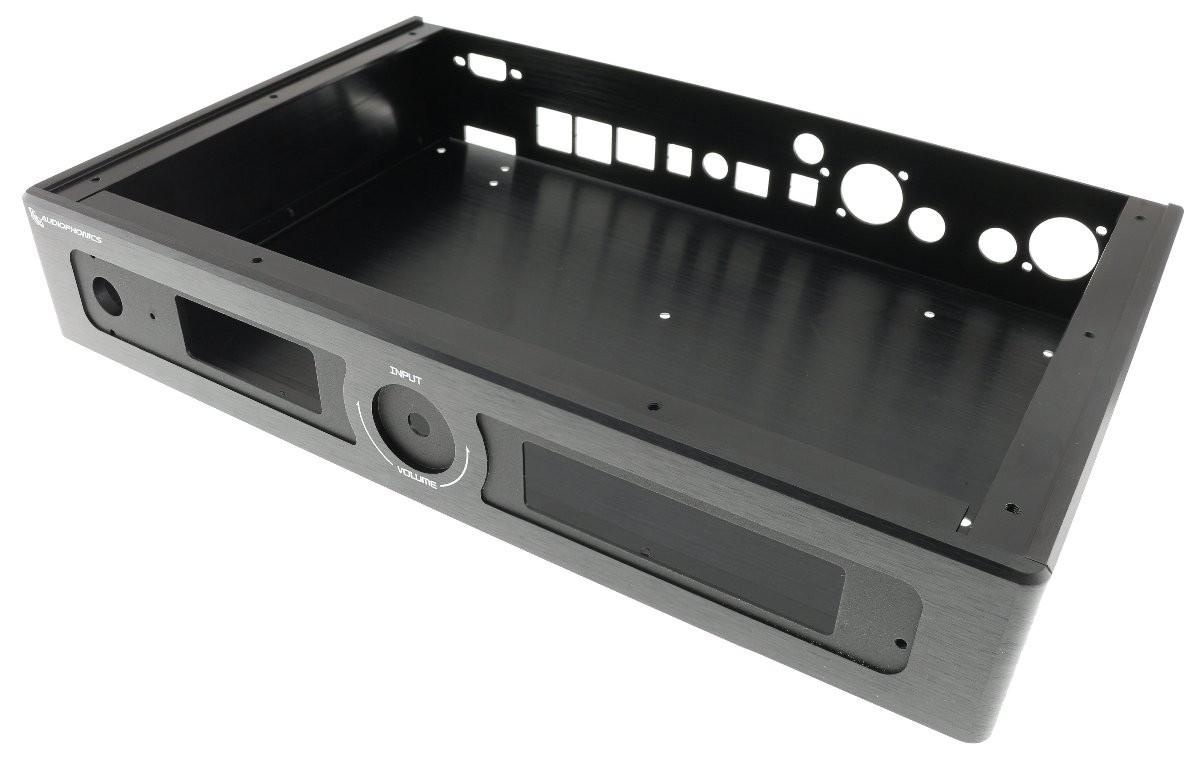 AUDIOPHONICS Kit Boitier Aluminium et accessoires pour EVO-SABRE DAC Noir