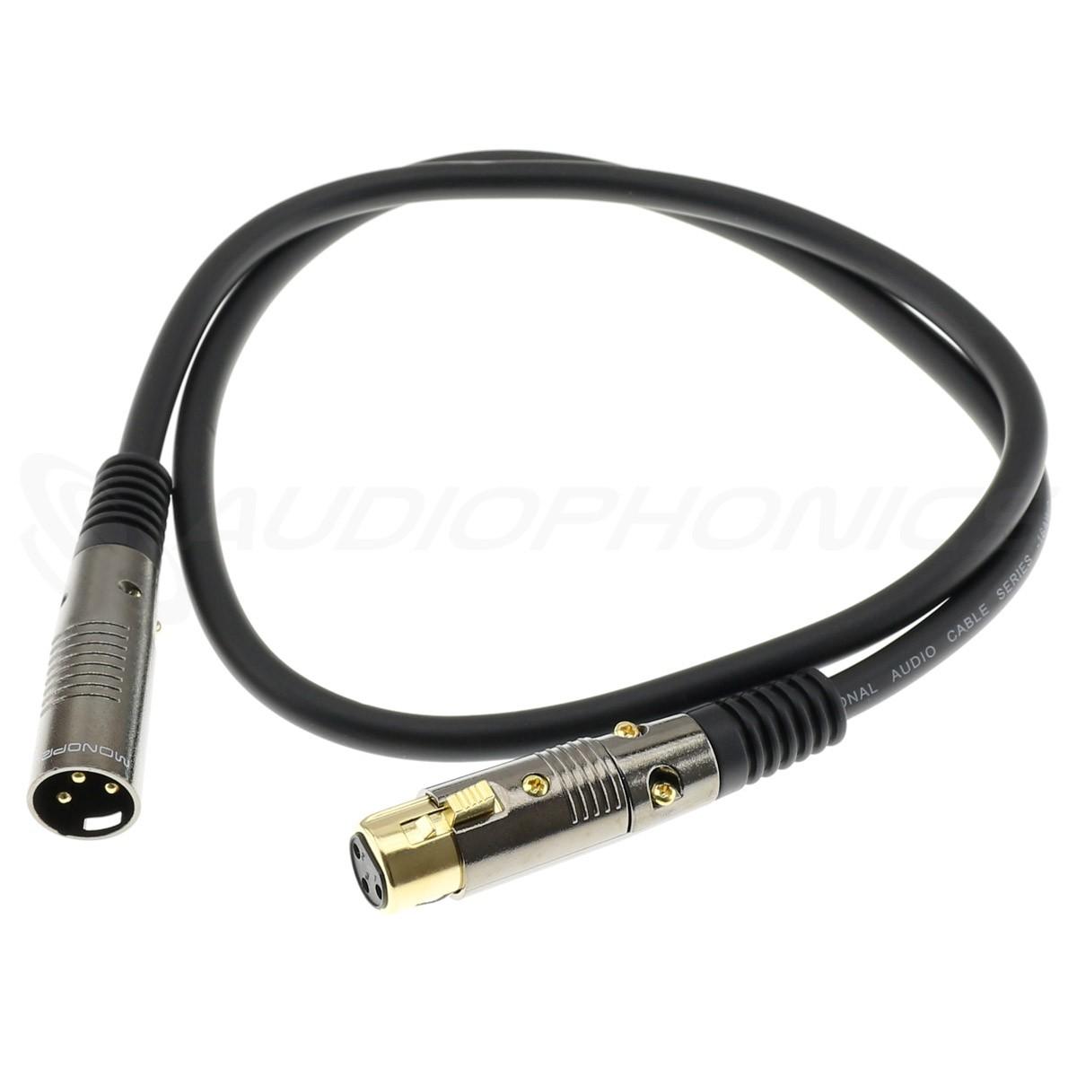 Câble de Modulation XLR Femelle vers XLR Mâle Plaqué Or 1.31mm² 7.6m