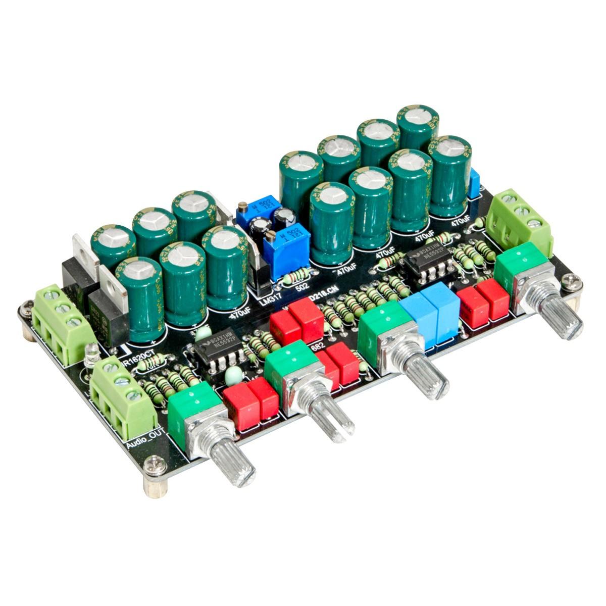 Preamplifier Board Volume Attenuator with Tone Control 2x NE5532
