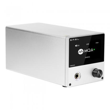 SMSL M500 DAC ES9038Pro Symétrique Amplificateur Casque XMOS XU216 MQA 32bit 768kHz DSD512 Argent
