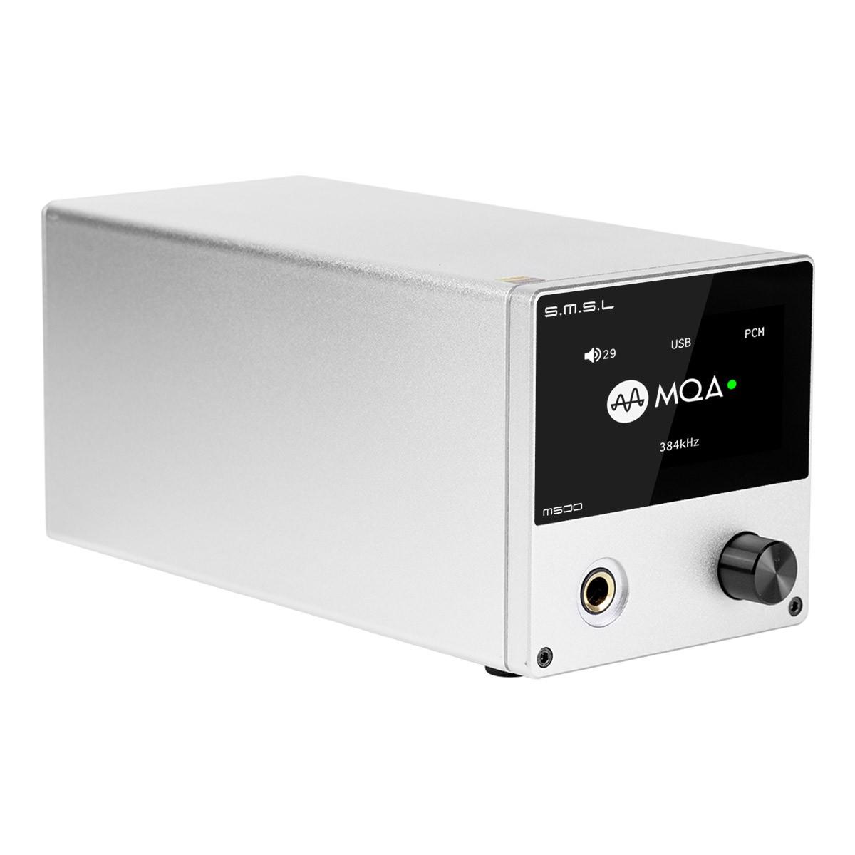 SMSL M500 V2 DAC ES9038Pro Symétrique Amplificateur Casque XMOS XU216 MQA 32bit 768kHz DSD512 Argent