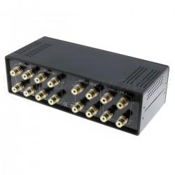 Sélecteur Audio 2 vers 2 Réversible pour Enceintes / Amplificateur Noir