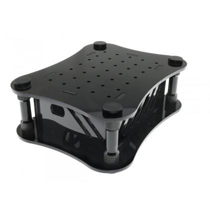 ALLO Boîtier acrylique pour DAC Boss et Raspberry Pi 4 Noir