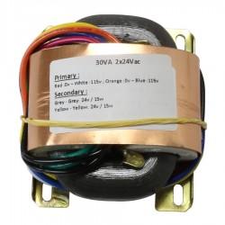 Transformateur R-CORE 30VA 24-0-24V