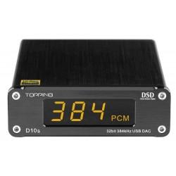 TOPPING D10S DAC USB 32bit/384kHz DSD 128 XMOS U208 ES9038Q2M Noir