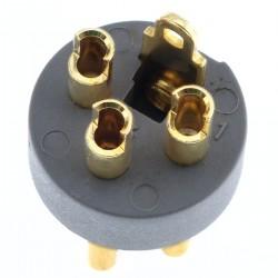 ELECAUDIO Connecteur XLR 3 Pins Mâle Cuivre Tellurium Plaqué Or Ø 8.5mm (Unité)