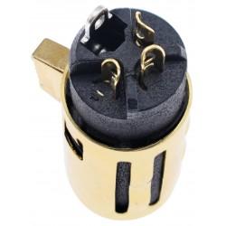 ELECAUDIO EX-102 Connecteur XLR 3 Pins Femelle Plaqué Or Ø 8.5mm (Unité)