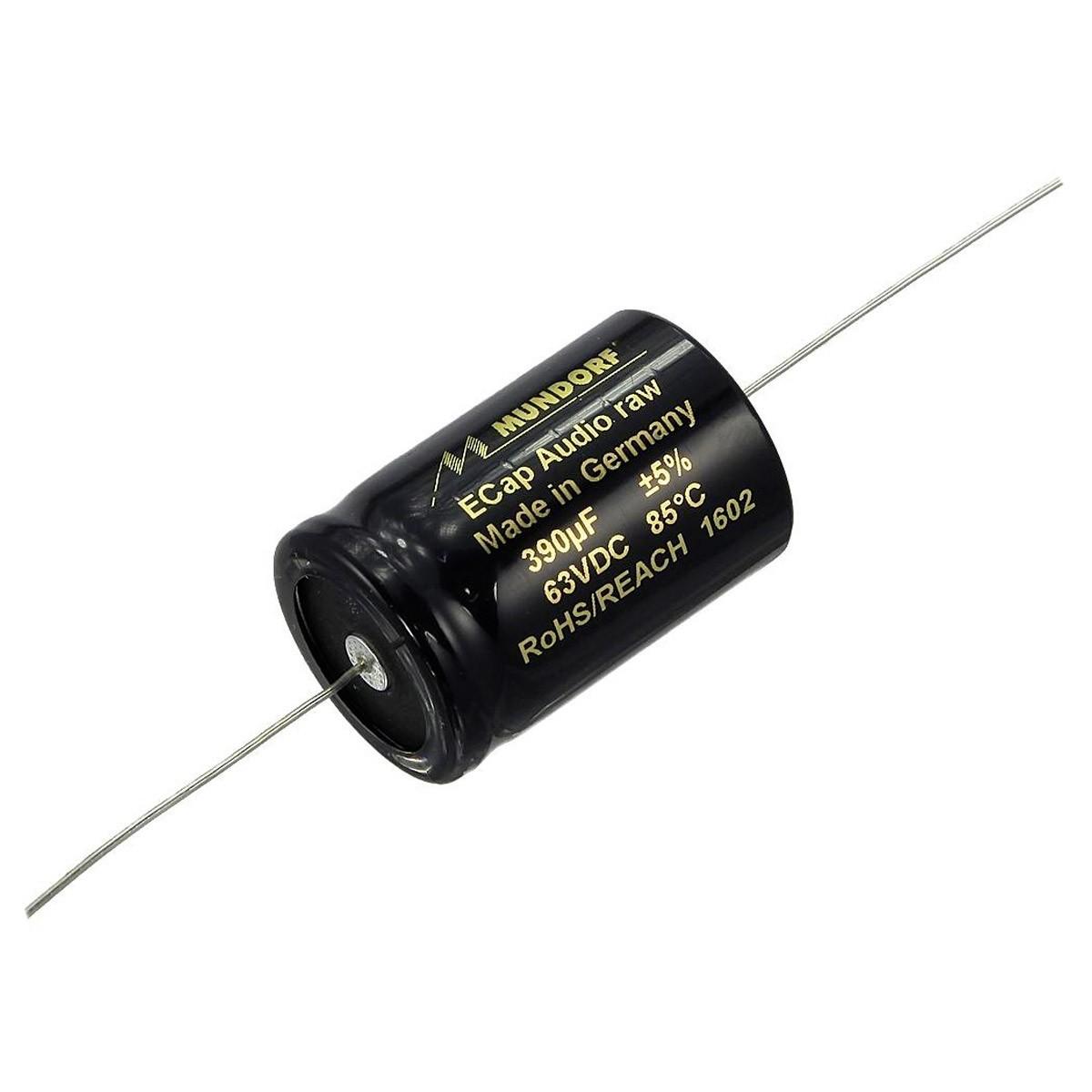 MUNDORF E-CAP ECAP63 (BR63) RAW Condensateur 63VDC 23VAC 390µF