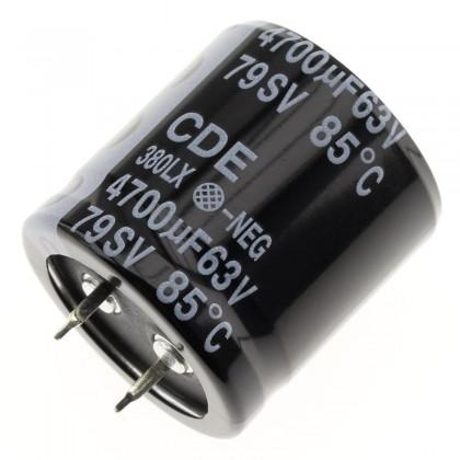 Condensateur Arcotronics ELH 63V 4700µF Snap-in
