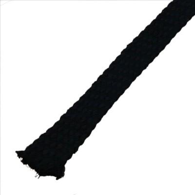 Gaine Coton naturel pour câble Ø 18 - 25mm noir