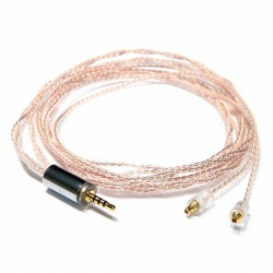 OEAUDIO 2DUALOFC Headphone Cable Jack 2.5mm to MMCX Balanced OFC Copper PTFE Ø1.5mm 1.2m