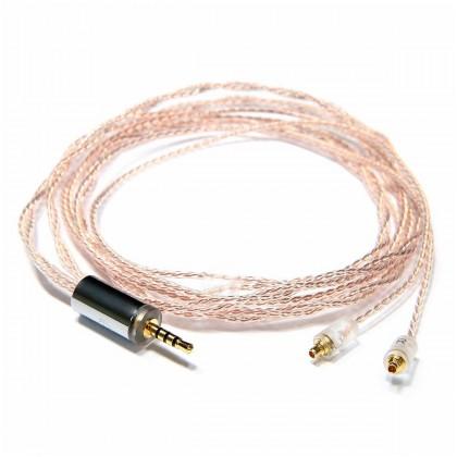 OEAUDIO 2DUALOFC Câble Casque Jack 2.5mm vers MMCX Symétrique Cuivre OFC PTFE Ø1.5mm 1.2m