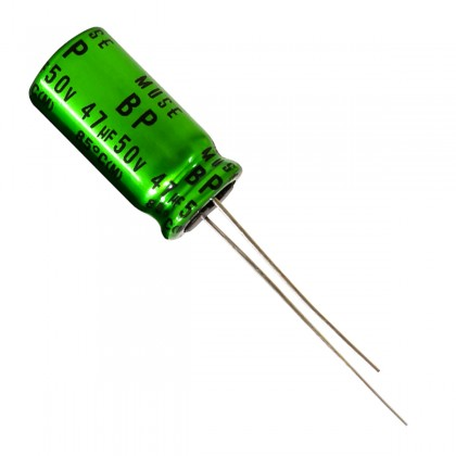 Nichicon ES Muse - Condensateur Audio Audiophile bipolarisé 10V 47µF