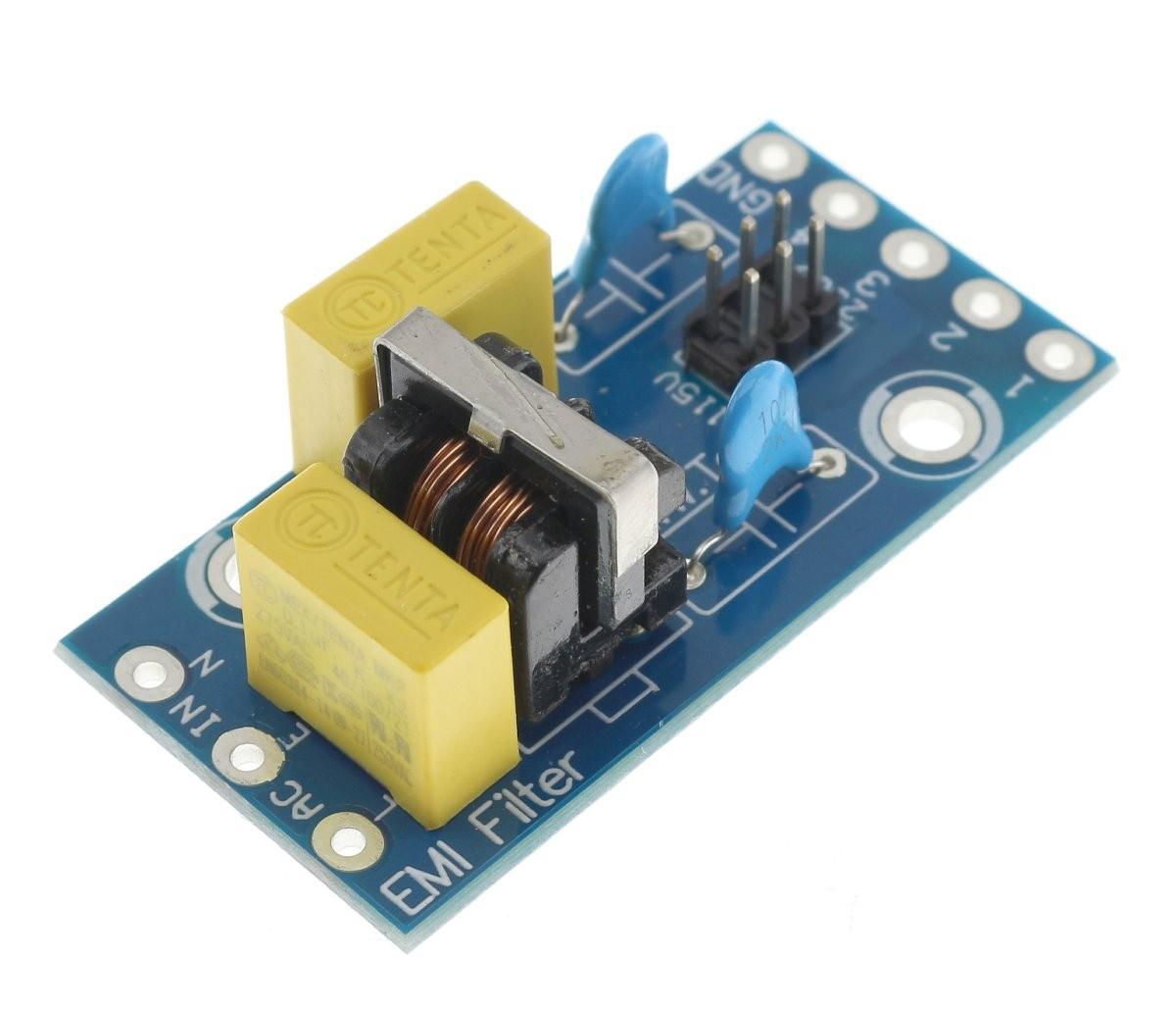 EMI / RFI mains filter Interference suppression 230V 1A
