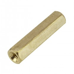 Brass Spacers Female / Female M3x12mm (x10)
